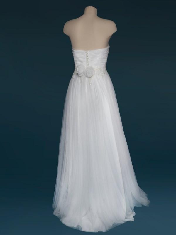 abito da sposa scivolato in tulle